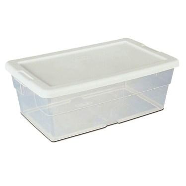 Clear Plastic Shoe Boxes.