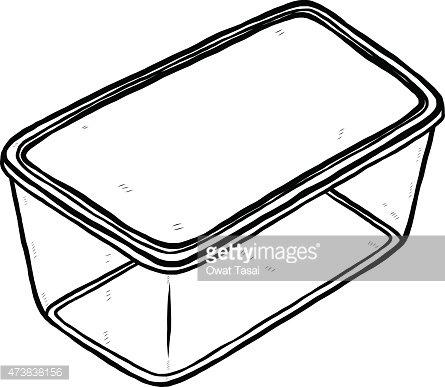 Plastic Box for Food Container premium clipart.