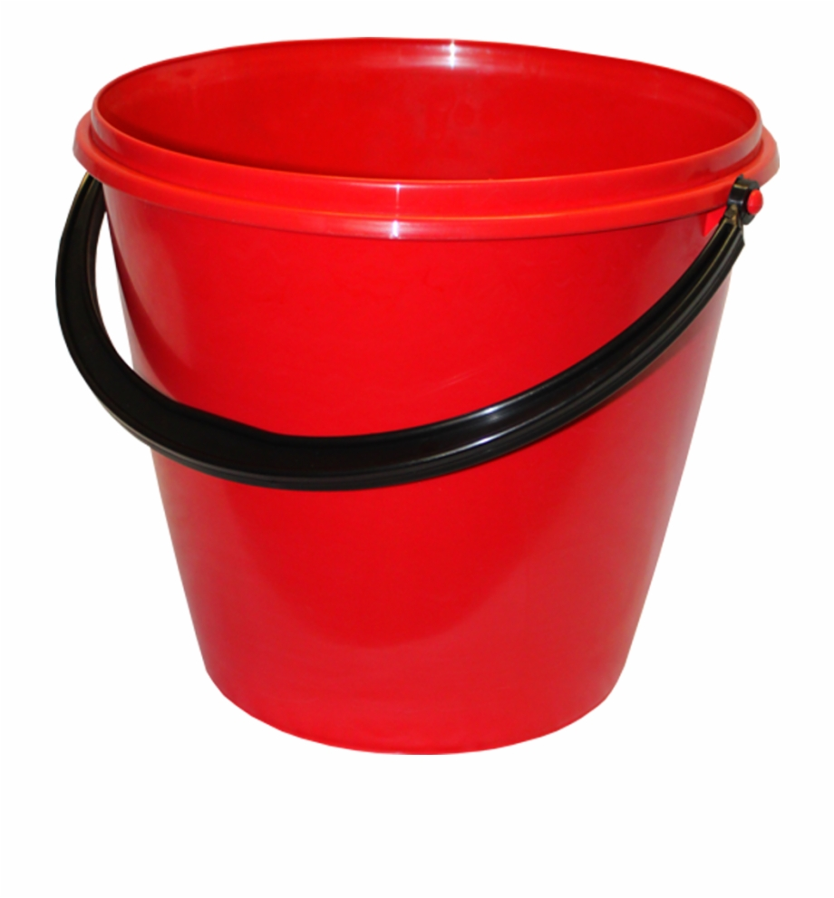 Red Plastic Bucket.