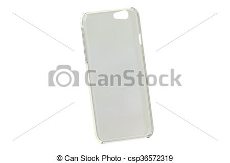 Clipart of Silicone Transparent Mobile Phone plastic case, 3D.