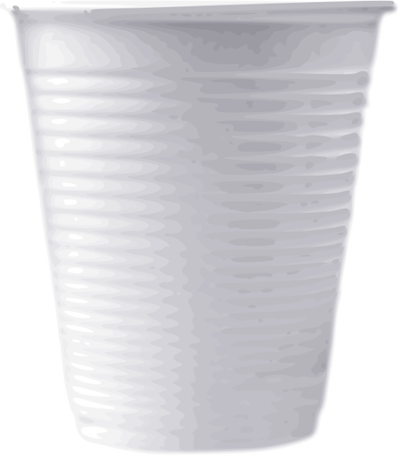 Vector clip art of white plastic cup.