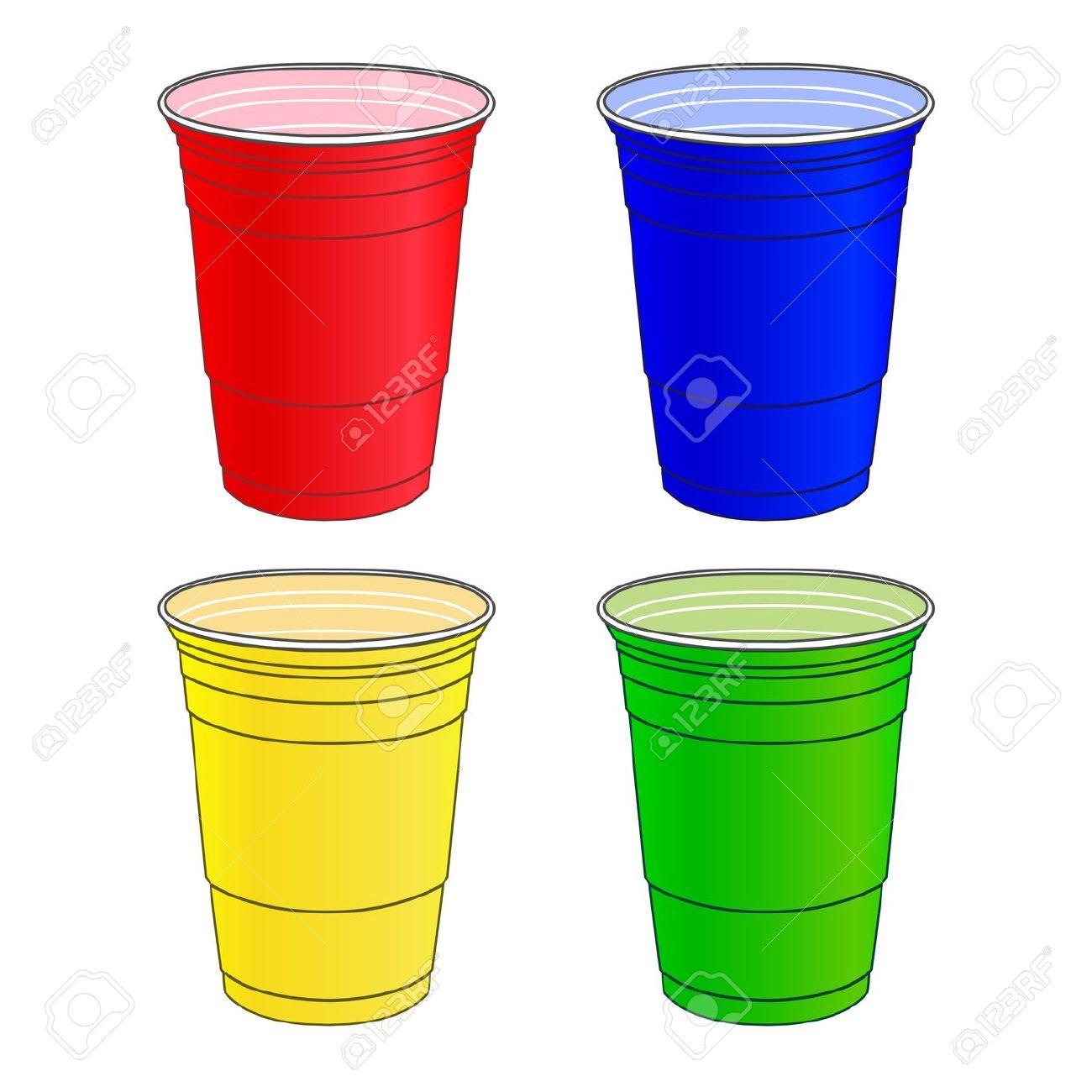 Plastic Cups Clipart.
