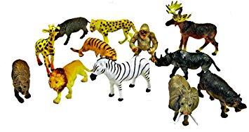 Amazon.com: ~ 12 ~ Zoo Safari Animal Figures ~ 3.