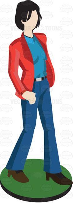 Man In Sweater Pawn Figurine.