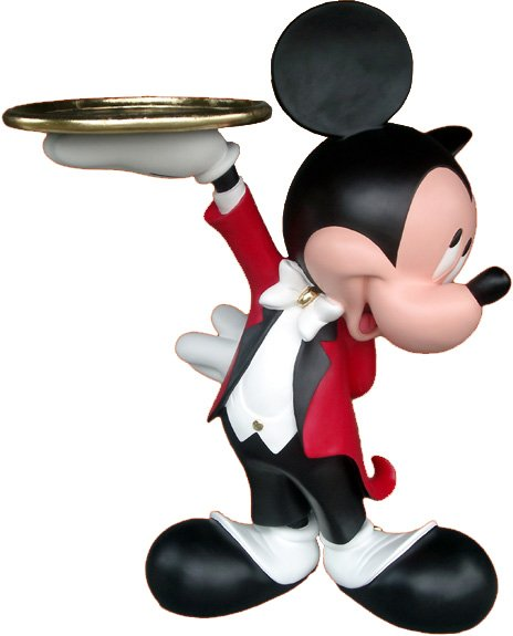 Cute And Classical Plastic Mickey Mouse Cartoon Figure Toy.