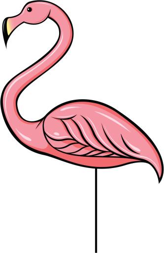 plastic flamingos clipart