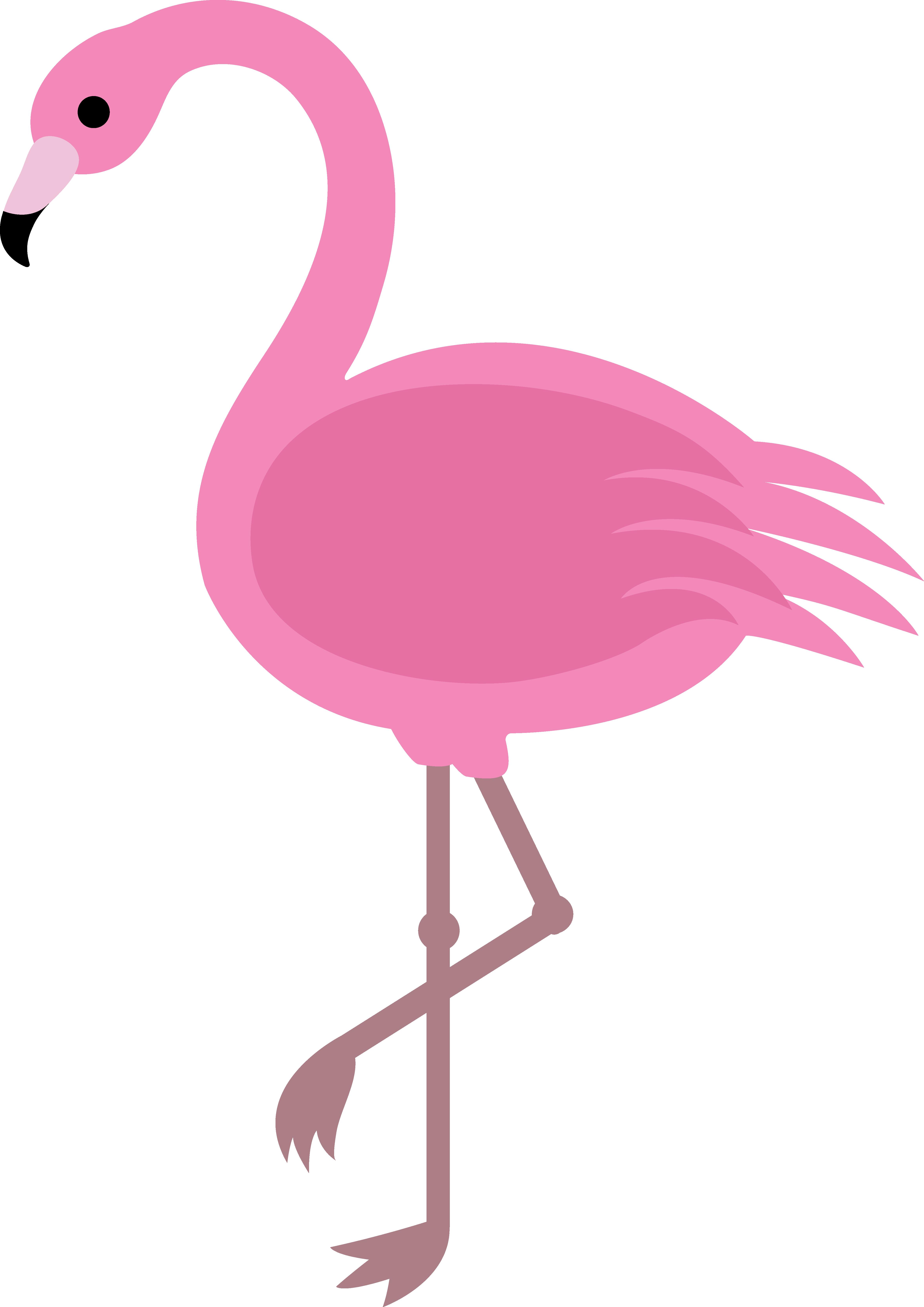 Pink Flamingo Clip Art.