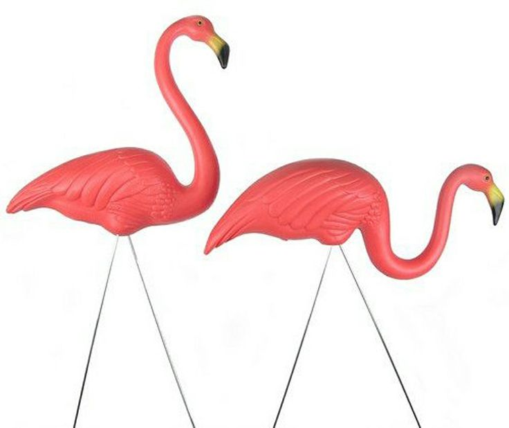 Flamingo yard ornaments clipart trailer trash art.