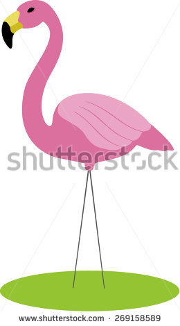 Plastic Flamingo Stock Photos, Royalty.