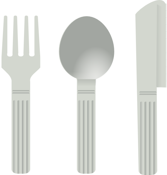 Fork Spoon Knife Clip Art at Clker.com.