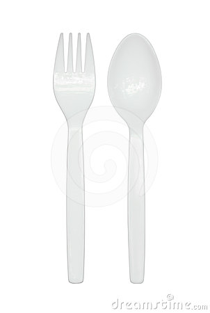 Plastic forks and spoons clipart.