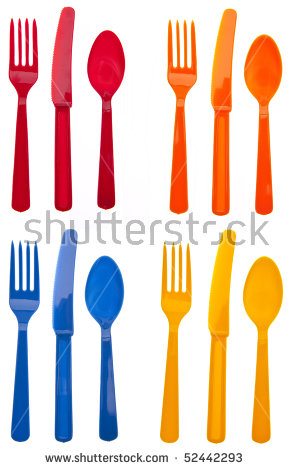 Plastic Fork Stock Images, Royalty.