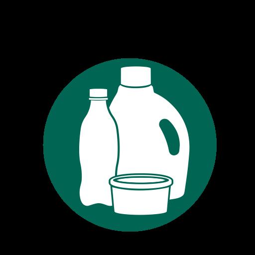 Plastic recycling, plastics icon.