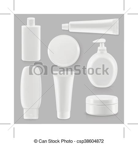 Vectors Illustration of Cosmetics and hygiene, plastic packaging.