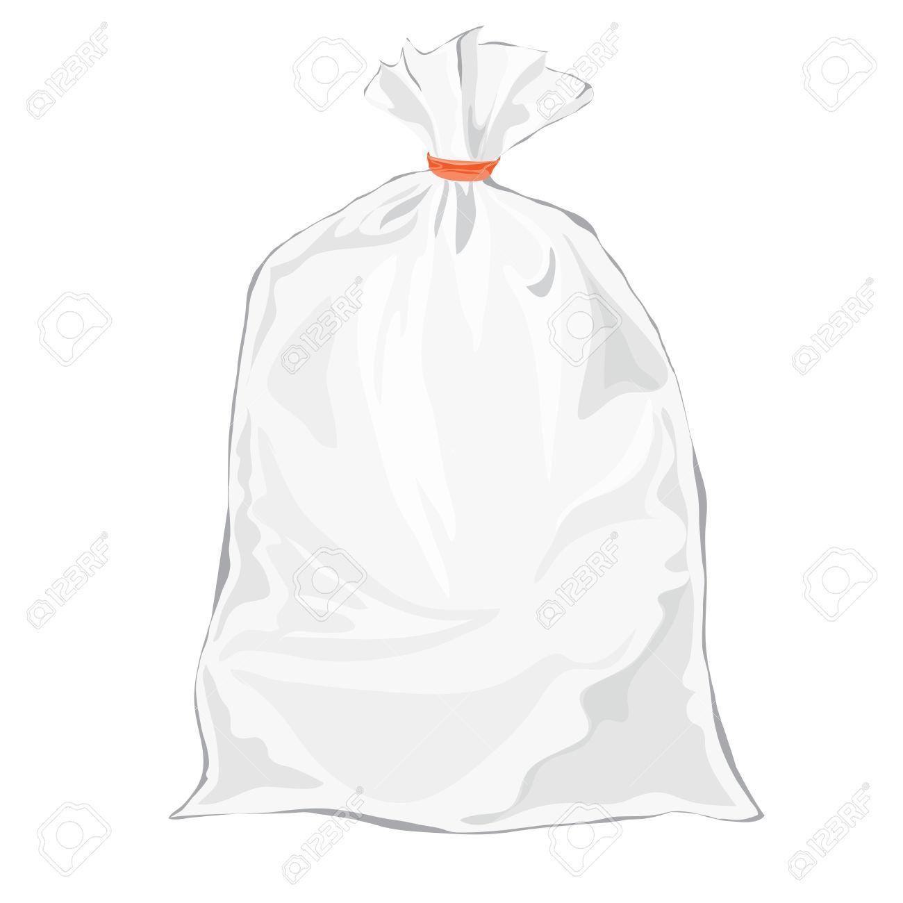 Clear plastic bag clipart.