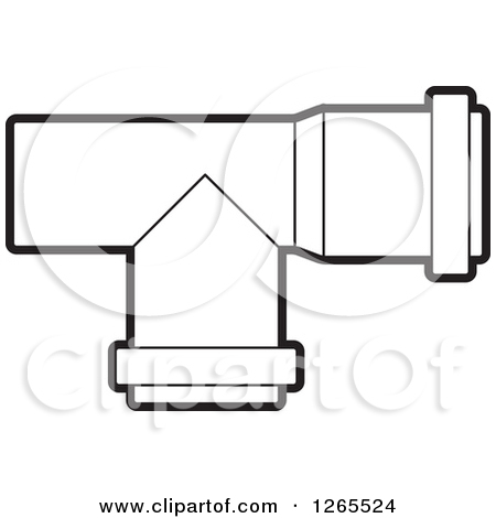 Water pipe clipart black and white.