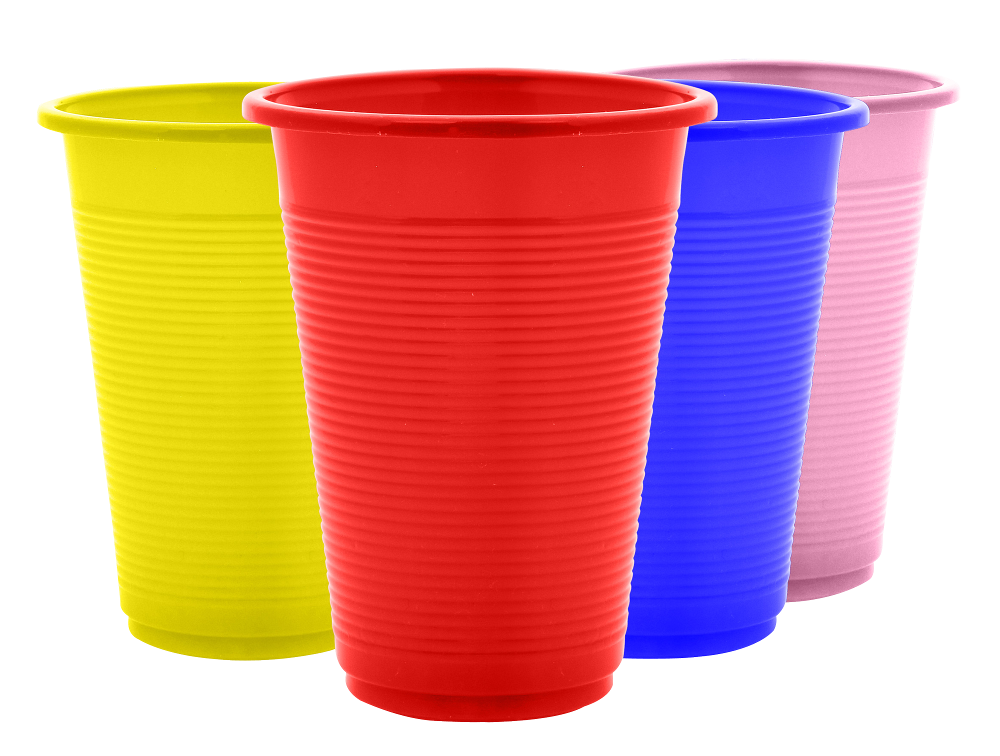 Plastic Cups PNG Image.