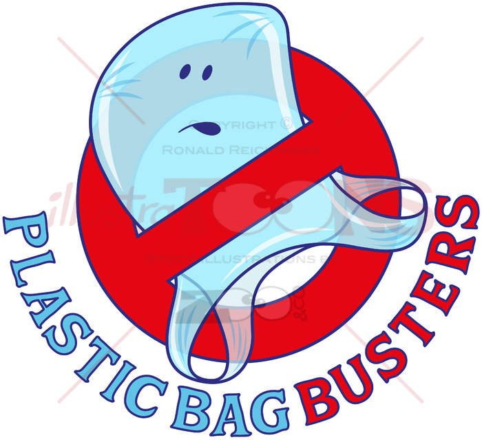 Plastic bag busters, stop plastic pollution.