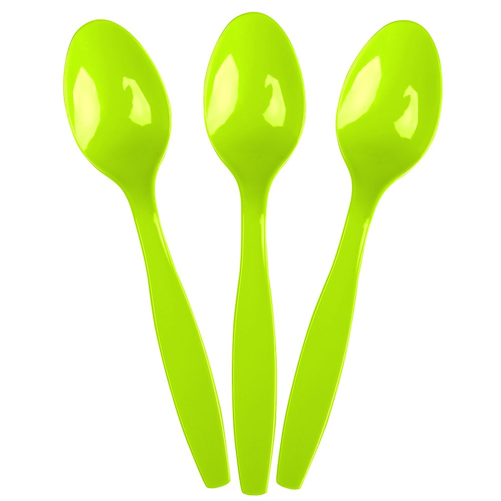 Kiwi Green Premium Plastic Spoons 48ct.