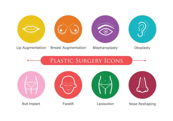 Plastic Surgery Icons.