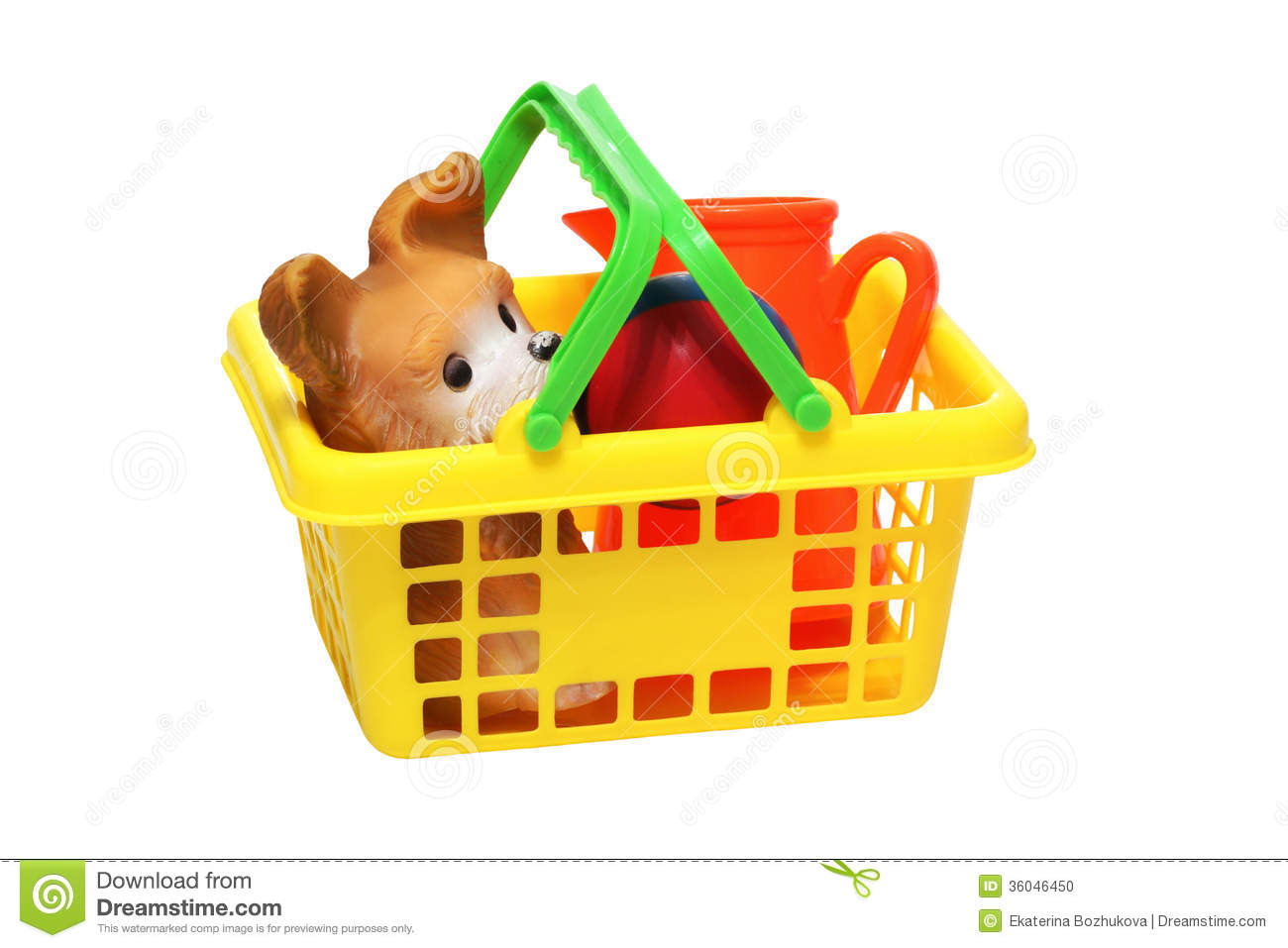 Toy basket clipart.