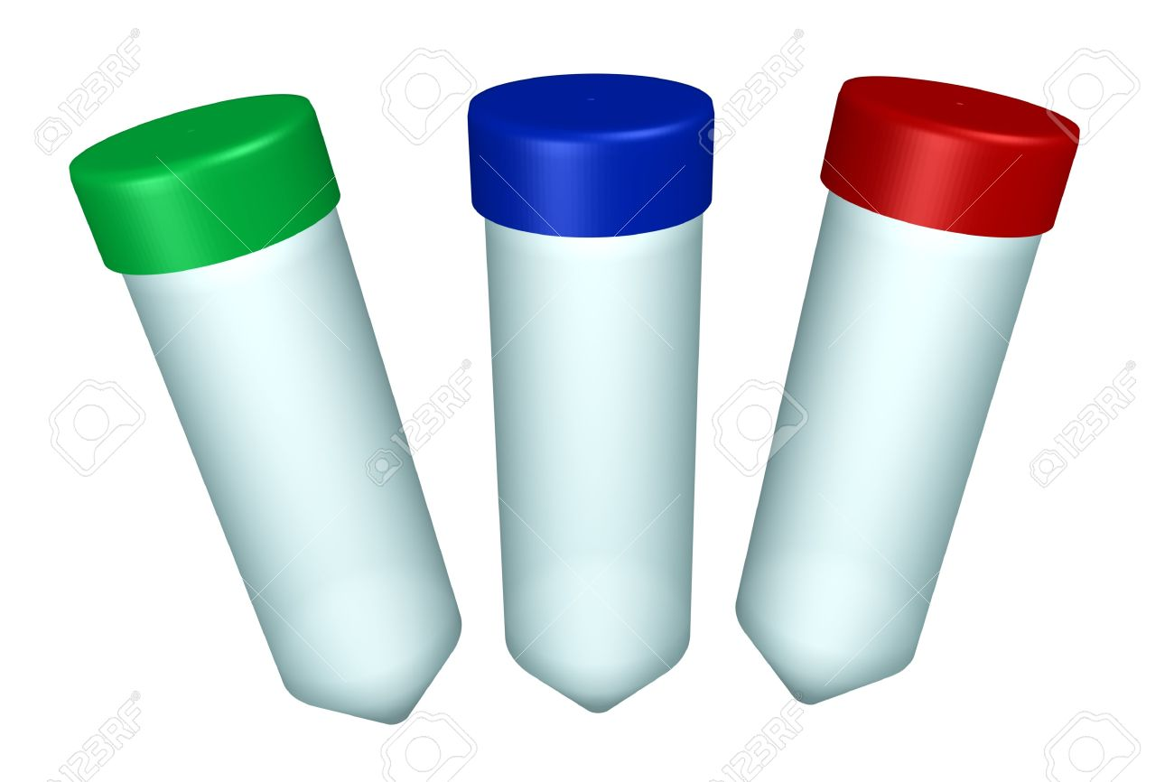 Set Of Laboratory Plastic Test.