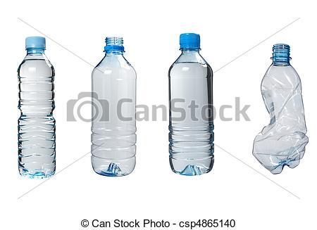 Stock Photography of plastic bottles trash waste ecology.
