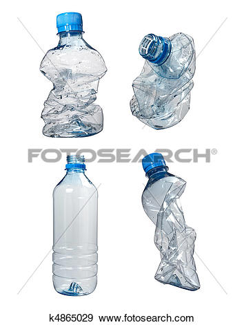 Stock Photograph of plastic bottles trash waste ecology k4865029.