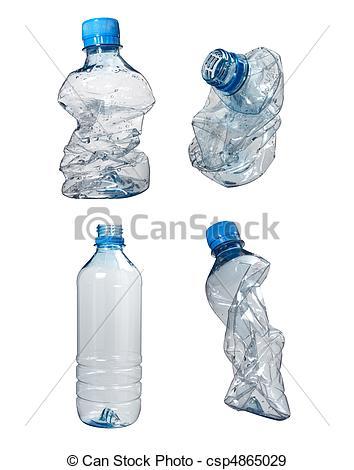 Stock Photographs of plastic bottles trash waste ecology.