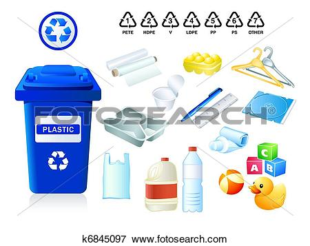 Clip Art of Plastic waste and garbage k6845097.