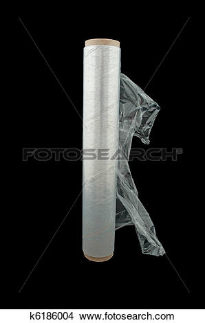 Stock Photo of Roll Of Cling Film/plastic Wrap k6186004.