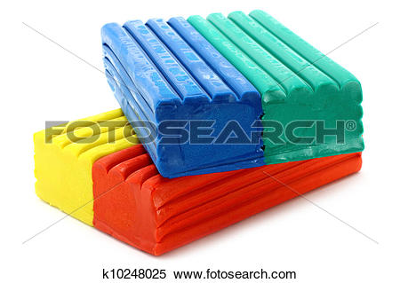Stock Image of Colour plasticine k10248025.