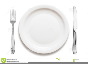 Plates And Silverware Clipart.