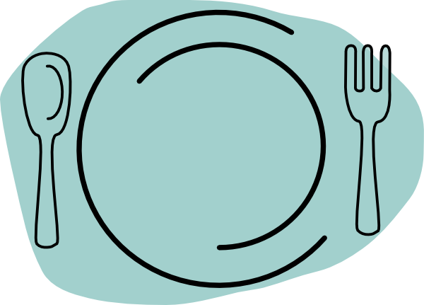 Plate and utensils clipart 3 » Clipart Station.