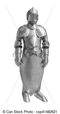 Stock Photo of historic plate armour.