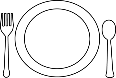 Plate clipart black and white 5 » Clipart Station.