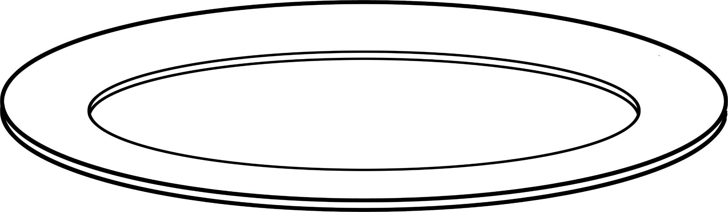 Plate Clipart Outline.