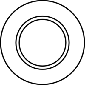 Plate Clipart Black And White.