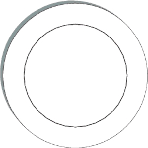 Plate Black And White Clipart.