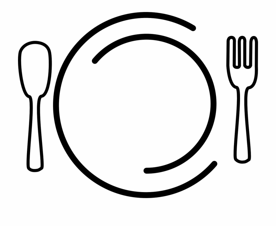 Dishes Plate Fork Spoon Food Png Image.