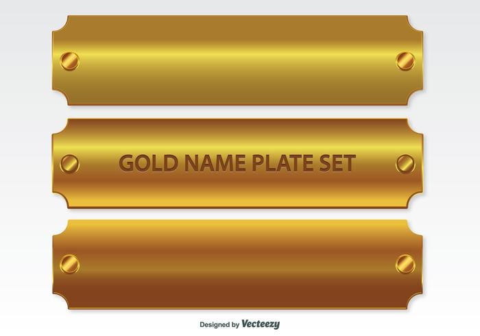 Golden Name Plates Set.