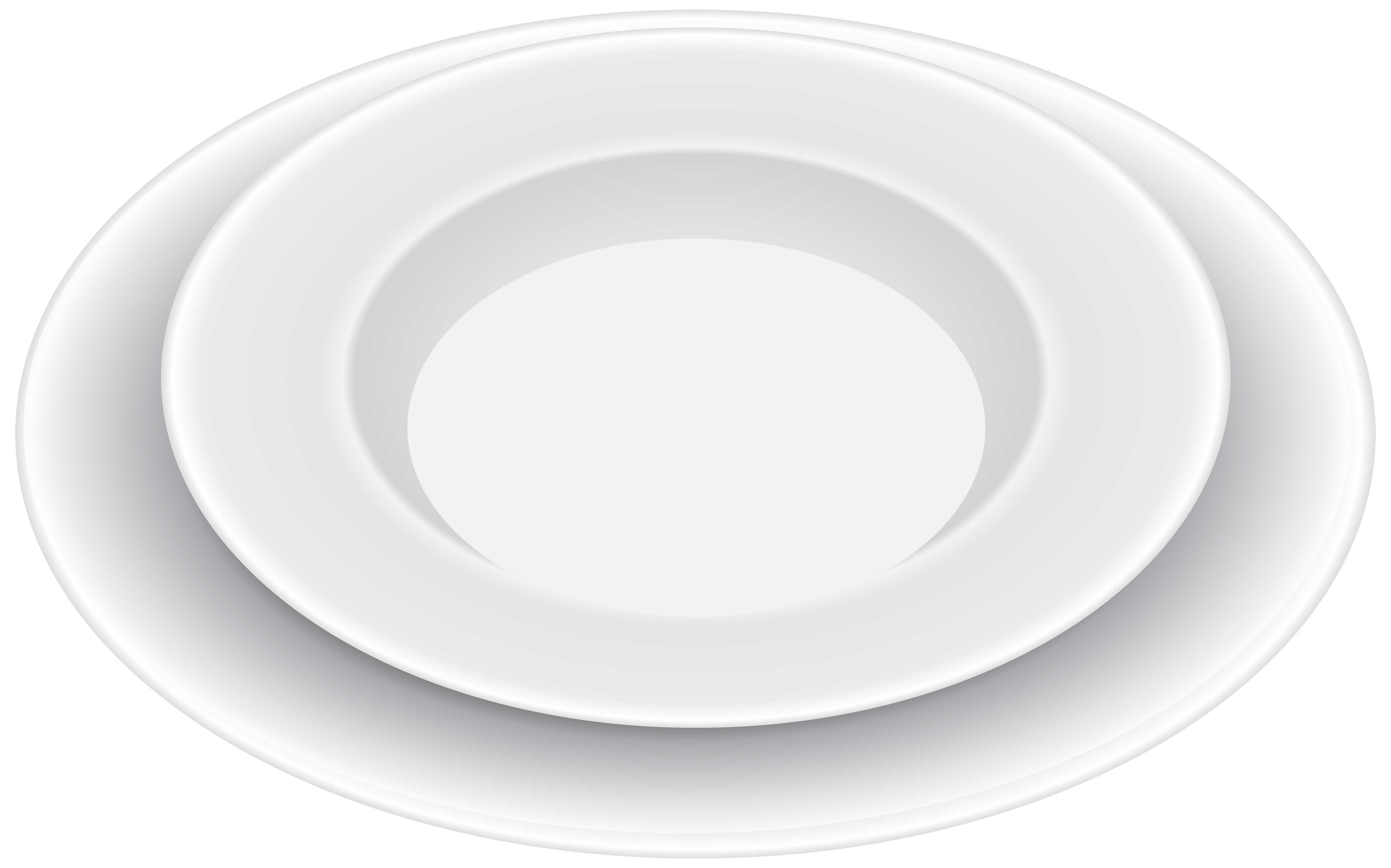 White Plates PNG Clipart.
