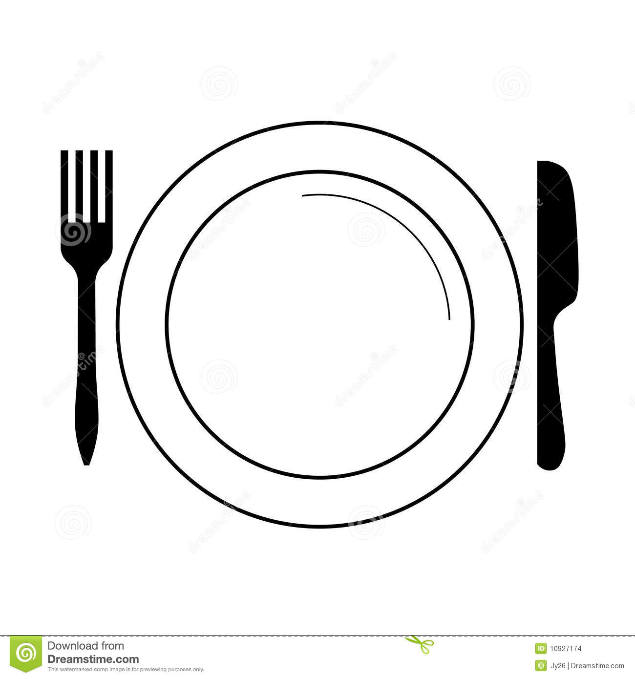 13 Plate Fork Vector Images.