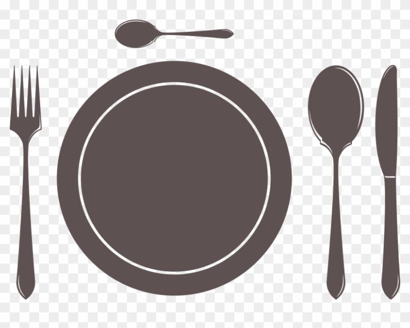 Fork Knife Png Plate Icon Dark 2x Clipart.