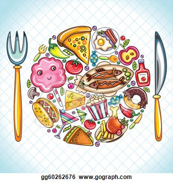 Plate Full Of Food Clipart.