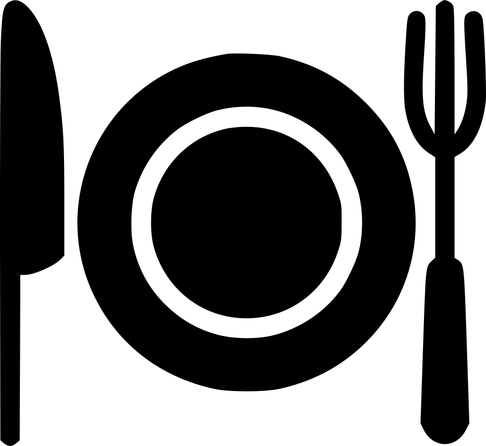 Plate With Fork And Knife Svg Png Icon Free Download.