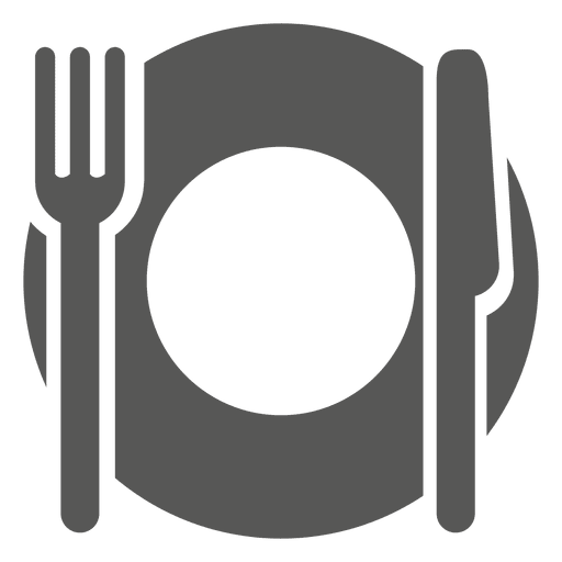 Empty dinner plate icon.