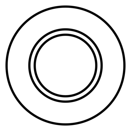 Dinner plate stroke icon.