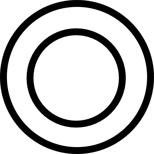 Plate circles from top view Icons.