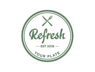 Refresh Your Plate logo design.